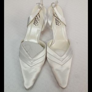 Wedding wire frisee bliss slingback heels #7